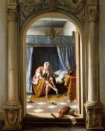Woman at Her Toilet - Jan Steen Oil Painting