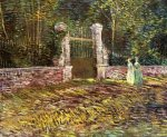 Entrance to the Park at Voyer-d'Argenson in Asnieres - Vincent Van Gogh Oil Painting