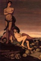 The Last Man - Elihu Vedder Oil Painting