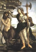 Pallas and the Centaur - Sandro Botticelli oil painting