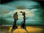 Archaeological Reminiscence of Millet's Angelus - Salvador Dali Oil Painting