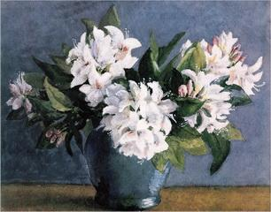 A bunch of white flowers in a vase oil painting reproduction on a bunch of white flowers in a vase oil painting reproduction on canvas mightylinksfo