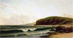 Headlands and Breakers-Grand Manan Maine - Alfred Thompson Bricher Oil Painting