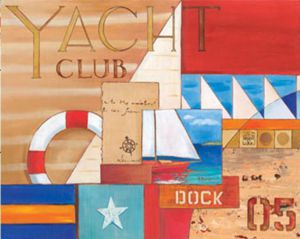 Yacht club - Oil Painting Reproduction On Canvas