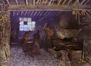 Forge at Marly-le-Roi -Alfred Sisley Oil Painting