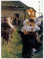 Midsummer Dance - Anders Zorn Oil Painting