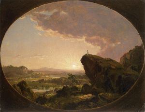 Moses Viewing the Promised Land - Frederic Edwin Church Oil Painting