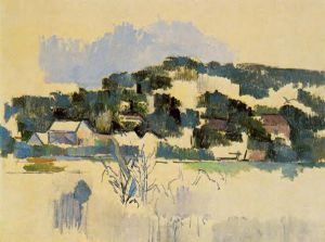 Houses on the Hill - Paul Cezanne Oil Painting
