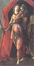 Judith Leaving the Tent of Holofernes - Sandro Botticelli oil painting