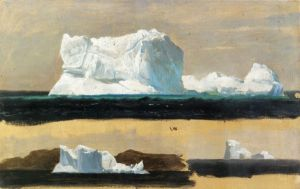 Icebergs, Twillingate, Newfoundland - Frederic Edwin Church Oil Painting