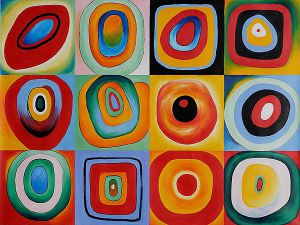 Farbstudie Quadrate - Wassily Kandinsky Oil Painting