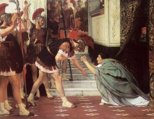 Proclaiming Claudius Emperor - Sir Lawrence Alma-Tadema Oil Painting