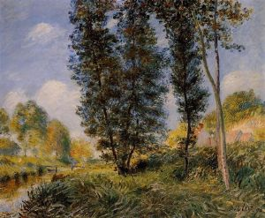 Banks of the Orvanne - Alfred Sisley Oil Painting