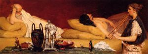 The Siesta - Sir Lawrence Alma-Tadema Oil Painting,