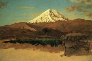 Mount Chimborazo, Ecuador - Frederic Edwin Church Oil Painting
