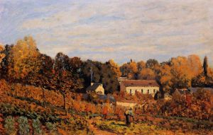 Kitchen Garden at Louveciennes - Alfred Sisley Oil Painting