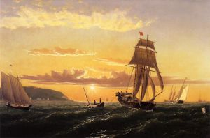 Sunrise on the Bay of Fundy - William Bradford Oil Painting