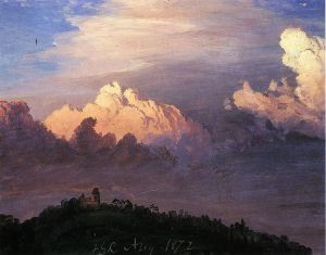 Clouds over Olana - Frederic Edwin Church Oil Painting