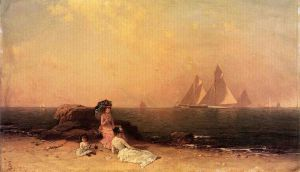 Afternoon at the Shore - Alfred Thompson Bricher Oil Painting