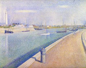 The Channel at Gravelines, Petit-Fort-Philippe - Oil Painting Reproduction On Canvas