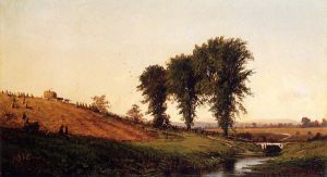 Haying - Alfred Thompson Bricher Oil Painting