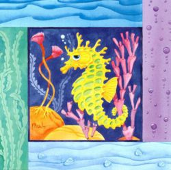 Sea Horse - Oil Painting Reproduction On Canvas