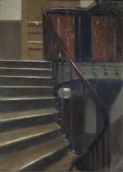 Stairway at 48 rue de Lille Paris - Edward Hopper Oil Painting