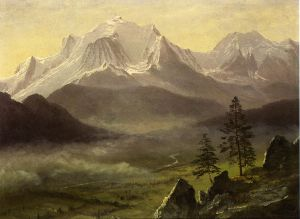 Grand Tetons - Albert Bierstadt Oil Painting