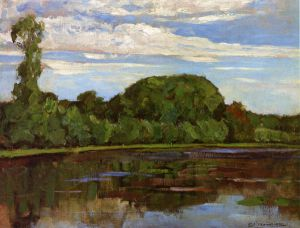Geinrust Farm with Isolated Tree - Piet Mondrian Oil Painting