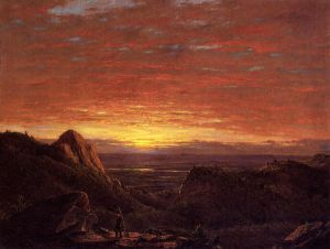 Morning, Looking East over the Husdon Valley from Catskill Mountains - Frederic Edwin Church Oil Painting