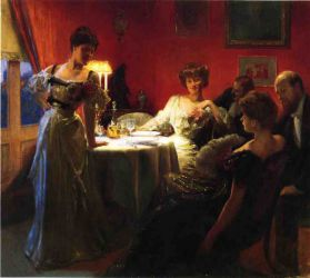 A Supper Party - Julius LeBlanc Stewart Oil Painting