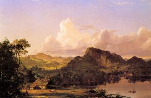Home of the Pioneer - Frederic Edwin Church Oil Painting