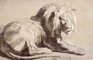 Etude of lion - Peter Paul Rubens Oil Painting