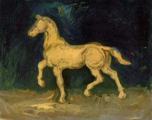 Plaster Statuette of a Horse - Vincent Van Gogh Oil Painting