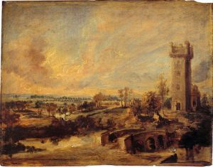 Landscape with Tower - Peter Paul Rubens Oil Painting