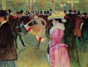 Dance at the Moulin Rouge - Henri De Toulouse-Lautrec Oil Painting