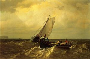 Fishing Boats on the Bay of Fundy II - William Bradford Oil Painting
