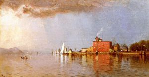 Along the Hudson - Alfred Thompson Bricher Oil Painting