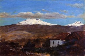 Mount Chimborazo, Ecuador, Shown from Riiobamba - Frederic Edwin Church Oil Painting