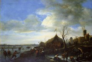 Winter Landscape - Jan Steen Oil Painting