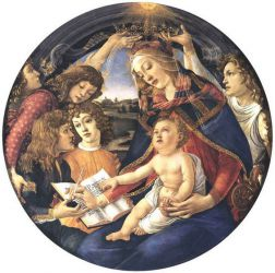 Madonna of the Magnificat (Madonna del Magnificat) - Sandro Botticelli oil painting