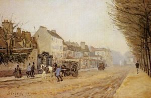 Boulevard Heloise, Argenteuil - Alfred Sisley Oil Painting