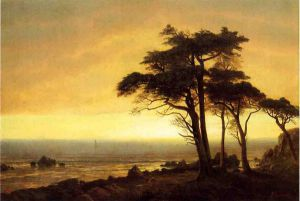 California Coast - Albert Bierstadt Oil Painting