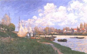 Drying Nets - Alfred Sisley Oil Painting
