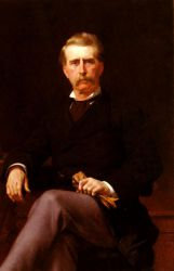 Portrait of John William Mackay - Alexandre Cabanel Oil Painting