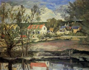 In the Valley of the Oise - Paul Cezanne Oil Painting