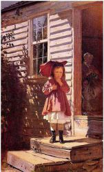 Broken Parasol - John George Brown Oil Painting