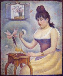 Young Woman Powdering Herself - Oil Painting Reproduction On Canvas