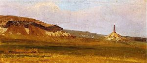 Chimney Rock - Albert Bierstadt Oil Painting
