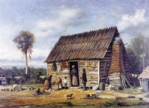 Negro Cabin by a Palm Tree - William Aiken Walker Oil Painting